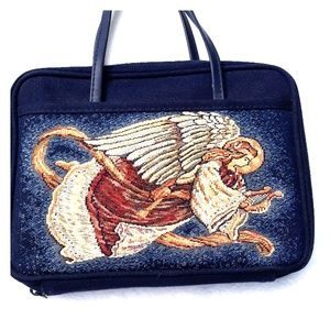 Angel tapestry bible cover